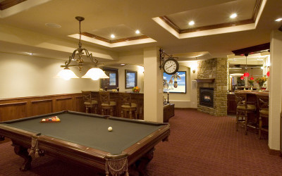 billiard media entertainment room