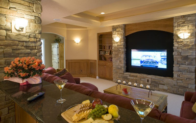 luxury home entertainment room
