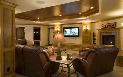Flat screen hgtv television living area