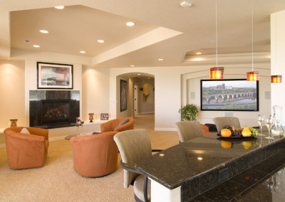 home theater family room