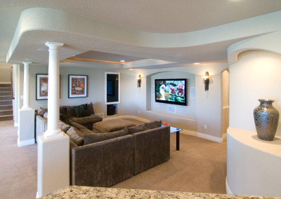 family room surround sound full entertainment system